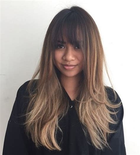 long haircuts with bangs and layers over 40 40 cute and effortless long layered haircuts with bangs