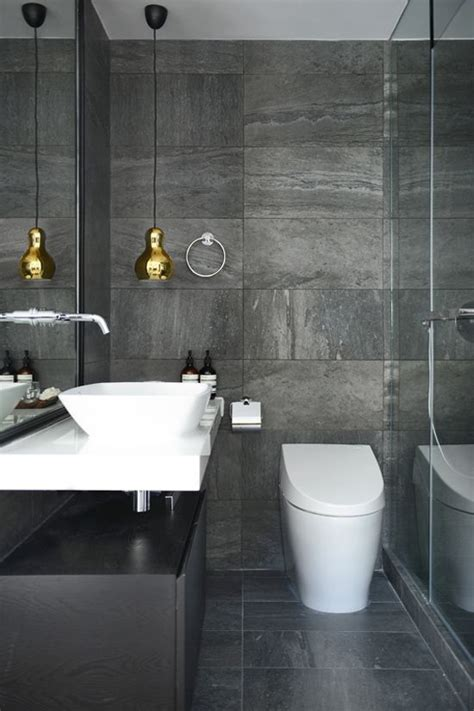grey white gold bathroom interior design