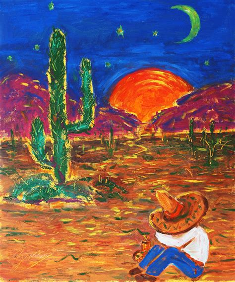 zou painting mexico impression iii painting by xueling zou