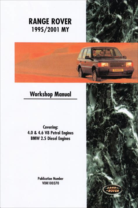 car repair manuals download 1995 land rover range rover electronic throttle control front cover range rover range rover repair manual 1995 2001 bentley publishers repair