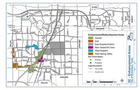 map of richardson city of richardson tx enhancement redevelopment