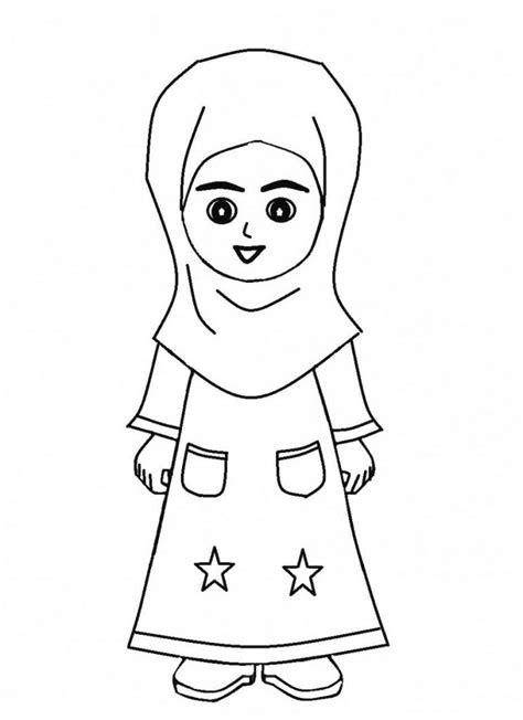 mewarnai gambar anak perempuan mewarnai gambar mewarnai gambar kartun anak pakai jubah azhan co