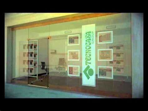 vetrine illuminate agenzia immobiliare tecnocasa by backlight