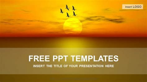 free powerpoint templates free sunset nature powerpoint templates free