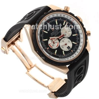 replica breitling chrono matic asia automatic movement gold with black rubber
