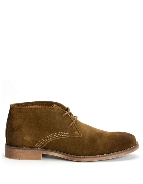 chukka boots suede calvin klein orrick suede chukka boots in brown for