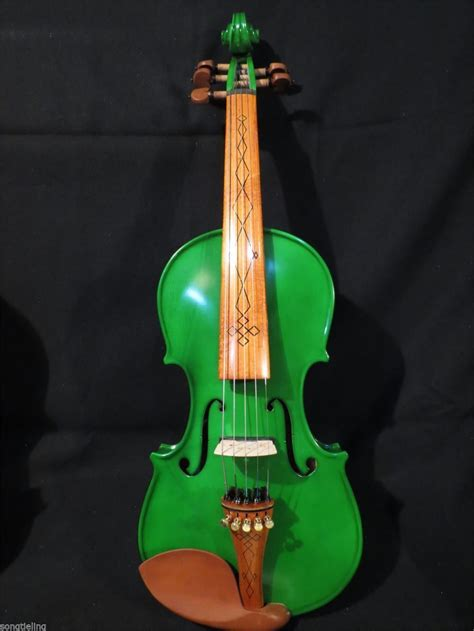 Handmade Top - handmade top new green color electric violin 5 strings 4 4