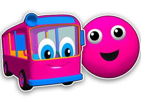 red colors for kids youtube quot the bus is pink quot learn colors for children 3d cartoon
