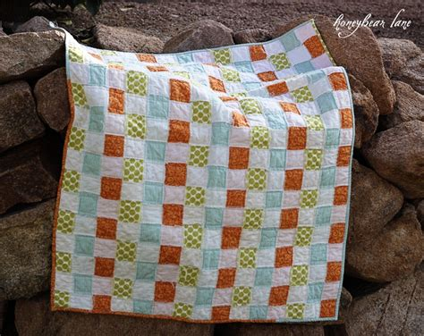 No Sew Quilt by Grosgrain Almost No Sew Quilt
