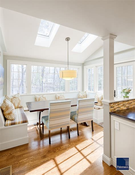 Dining Room Built In Bench Plans 27 Dining Rooms With Skylights That The Show