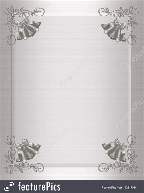 Wedding Bells Border Templates by Templates Wedding Invitation Silver Bells Stock