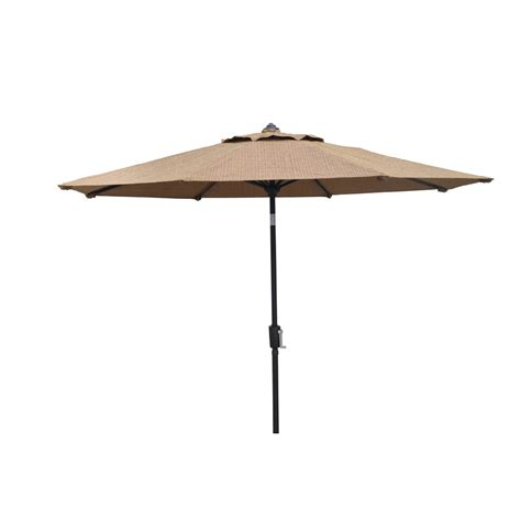Patio Umbrella Lowes Shop Allen Roth Safford Safford Patio Umbrella At Lowes