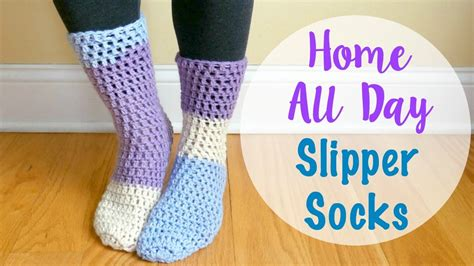 socks pattern youtube how to crochet the home all day slipper socks episode 414