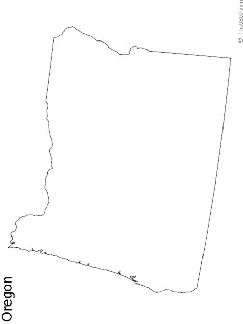 map of oregon outline the us50 a guide to the state of oregon geography