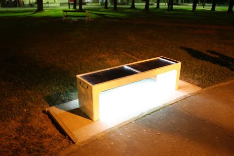 solar bench a first steora solar smart bench for zagreb croatia week