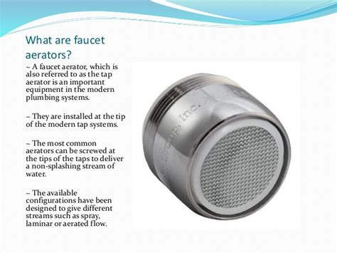 What Is A Faucet by Faucet Aerators