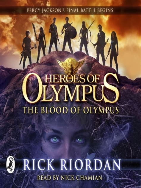 blood of books the blood of olympus by rick riordan nick chamian