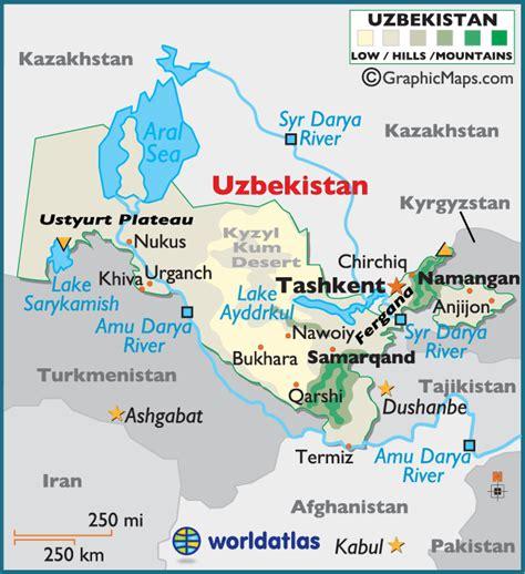uzbekistan world map map of uzbekistan republic of uzbekistan maps mapsof net