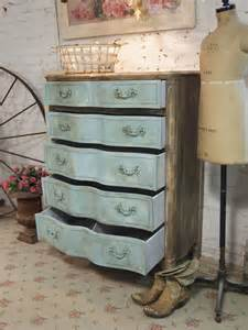painted cottage chic shabby aqua french dresser ch31