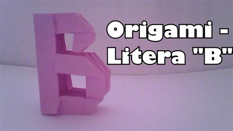 Origami B - origami litera b my crafts and diy projects