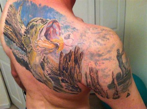 bass fishing tattoo designs 30 tattoos for die fishermen