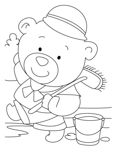 build a bear coloring pages coloring home