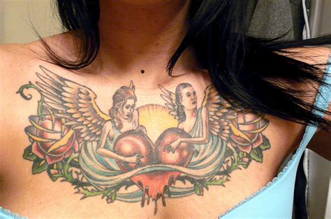 female chest piece tattoos beautiful chest designs for yusrablog