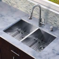 Sinks Undermount Kitchen Vg15159 All In One 32 Inch Undermount Bowl Kitchen Sink Set Modern Kitchen Sinks