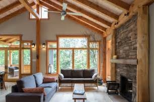 Outdoor Fireplace Frame Kit - small timber frame home