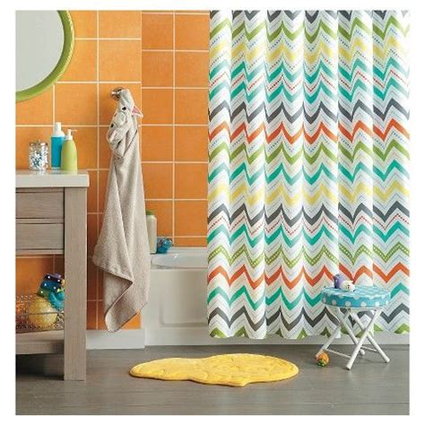shower curtains for kids bathrooms circo chevron shower curtain orange for kids bathroom