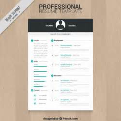 professional resume template vector free