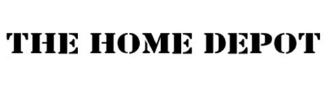 fonts logo 187 home depot logo font