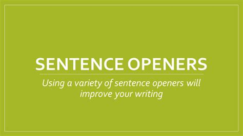selves in a sentence story sentence starters openers writing ideas by