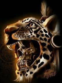 Aztec Jaguar Warrior Jaguar Warrior Skull Skulls Skeletons