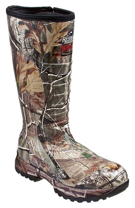 bass pro shop mens boots 800 gram thinsulate side zip rubber boots for