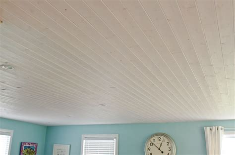 White Wood Ceiling Planks by Popcorn Ceilings Be And How Would This White