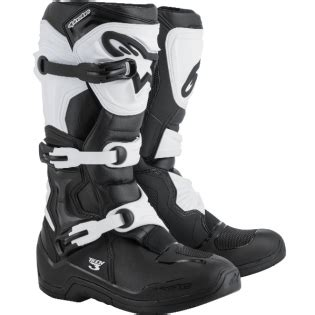 tech 3 motocross boots alpinestars tech 3 boots black white dirtbikexpress