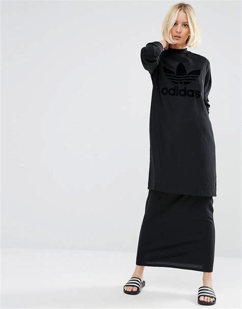 Adidas Maxi Dress adidas originals originals layer maxi dress with