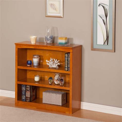 atlantic furniture 36 inch bookcase in caramel latte h 80037