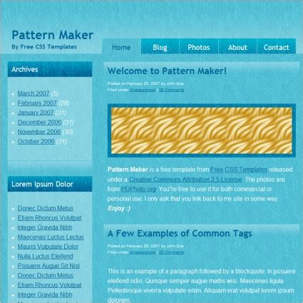 pattern generator js pattern maker free website templates in css html js