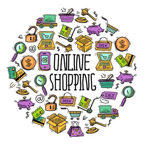 design background online online shopping background design vector premium download