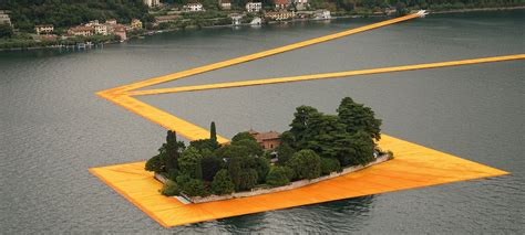 floating piers christo floating piers open in lake iseo italy
