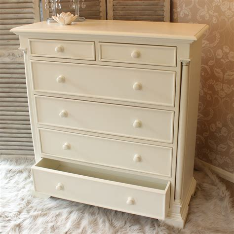 cream and wood bedroom furniture cream wooden large chest of drawers country cottage