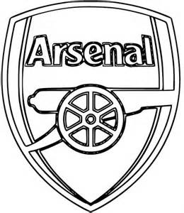 arsenal colors free coloring pages of arsenal football
