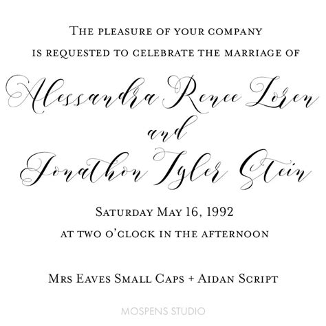 wedding font mrs eaves small caps wedding invitation font muted floral a stunning and clean