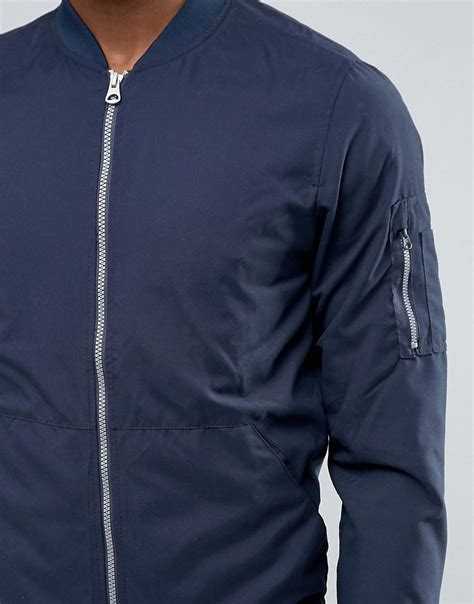 Jaket Bomber 2 In 1 Navy 2190 Jaket Pria lyst pull ma1 bomber jacket in navy in blue for