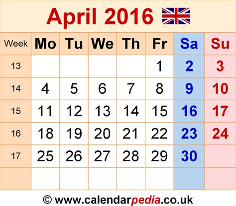 april 2016 calendar april 2016 calendar uk new calendar template site