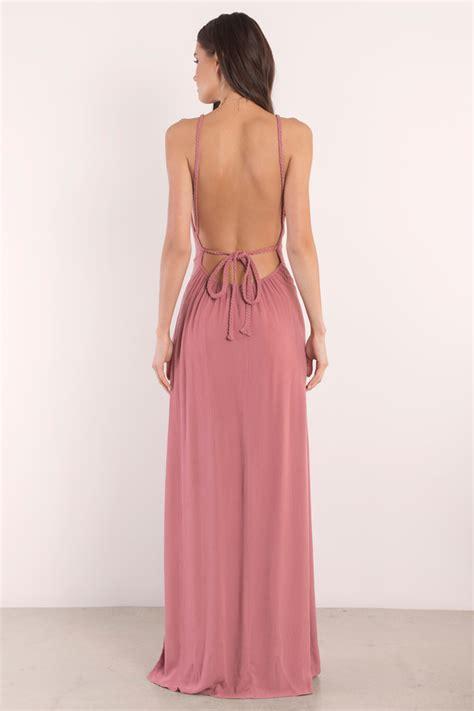 Backless Maxi Dress terracotta maxi dress backless dress orange dress