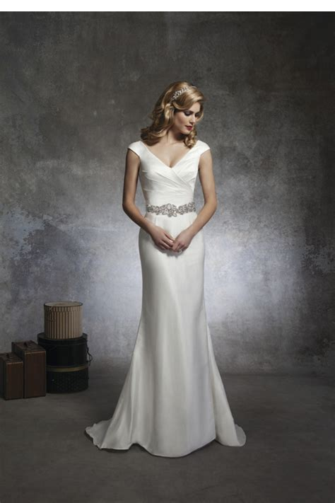 Plain Silk Wedding Dresses   High Society Bridal