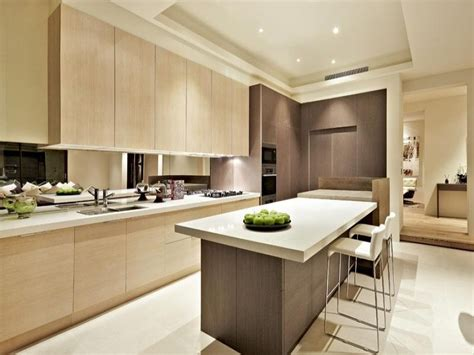 modern kitchen designs with island modern island kitchen design using wood panelling